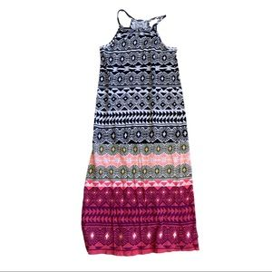 Cute Aztec Girls Maxi Dress Size 8 Medium